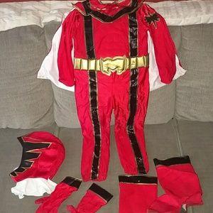 Disney store red power ranger sz 5-6 costume
